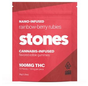 100mg Rainbow Berry Gummies - STONES