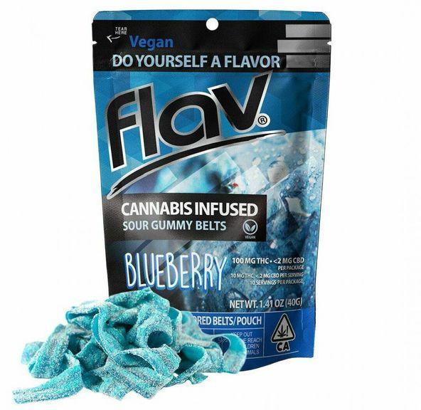 Flav - Sour Blueberry Gummy Belts