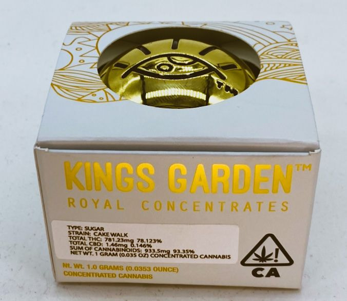 Cake Walk - 1g Sugar (THC 78%) by King's Garden