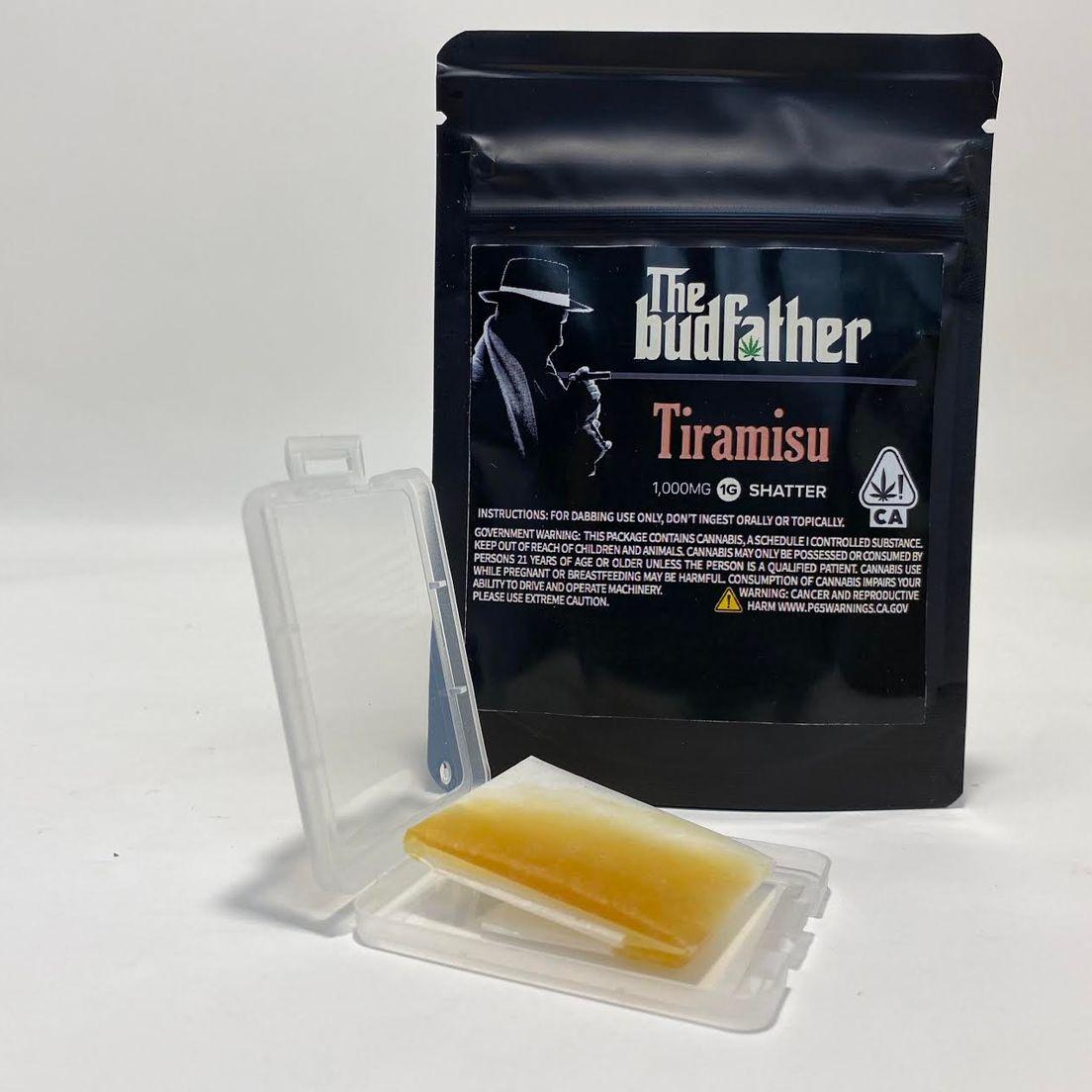 Budfather Tiramisu 1g Shatter 84%