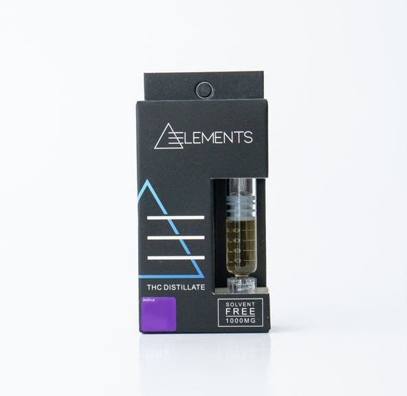 1000mg THC Indica Distillate Syringe by Elements