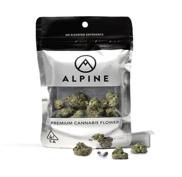 B. Alpine 3.5g Flower - Quality 9/10 - Snicker Doodlez (~33%)