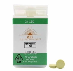 25 mg Tablets - 7:1 CBD - Charlottes Web - 1000 mg Package