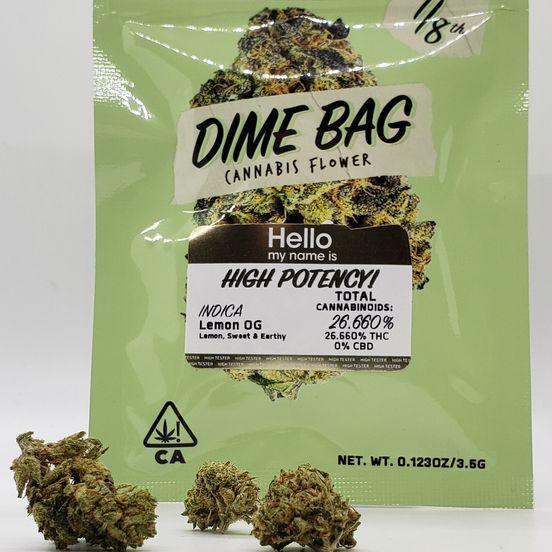 1/8 Lemon OG (26.66%/Indica) - Dime Bag