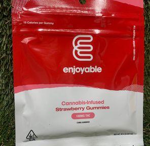 100mg Strawberry Gummies - ENJOYABLE