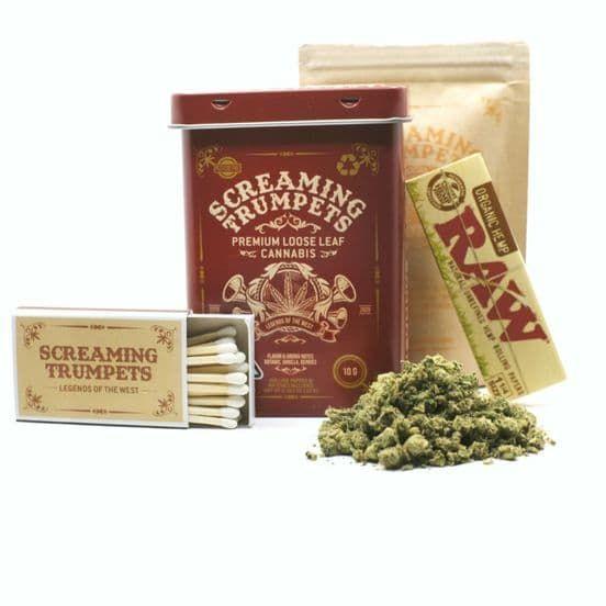 A. Screaming Trumpets 10g Shake - 9/10 - GMO (~23% THC)
