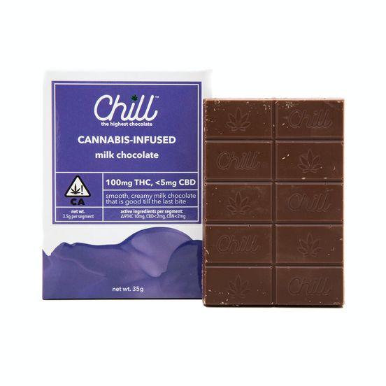 Milk Chocolate, Chocolate, 100mg- Chill