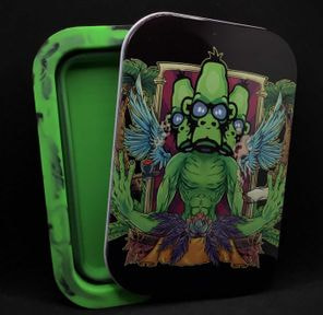 Alien Ape Foldable Stash Jar Tray Triple Alien