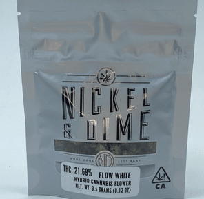 Flow White (THC 21.69%) by Nickel & Dime