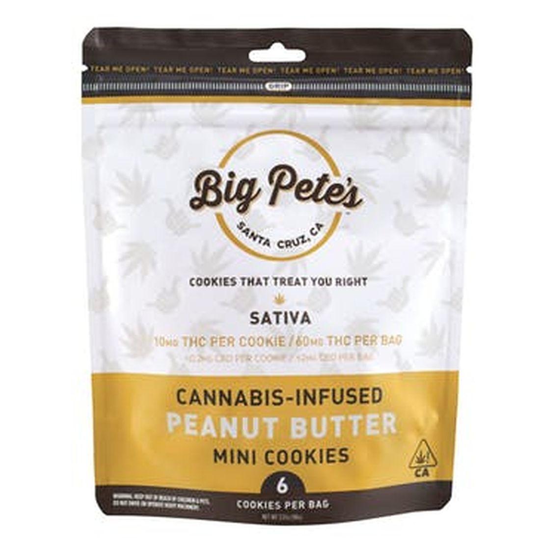 [Big Petes Treats] THC Cookies - 100mg - Peanut Butter (S)